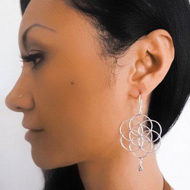 Silver Earrings - Gypsy Earrings - Ethnic Earrings - Silver Jewelry - Ethnic Jewelry