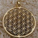 Flower Of Life Pendant - Energy Jewelry - Brass Jewelry - Tribal Jewelry - Geometric Jewelry