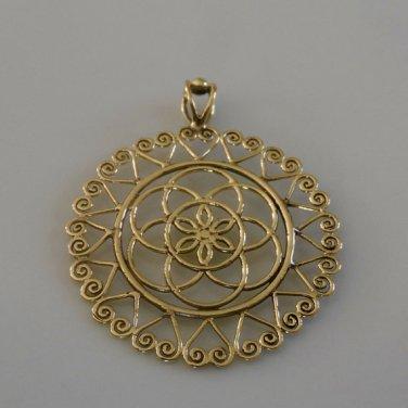 Brass Pendant - Ethnic Pendant - Gypsy Pendant - Brass Jewelry - Ethnic Jewelry