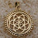 Flower Of Life Pendant - Energy Jewelry - Brass Jewelry - Tribal Jewelry - Geometric Jewelry