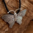 Silver Butterfly Pendant -Silver Butterfly Necklace - Silver Jewelry - Silver Necklace