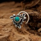 Turquoise Nose Stud - Silver Nose Stud - Tiny Nose Stud - Nose Jewelry - Nose Piercing