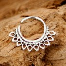 Silver Nose Ring - Silver Nose Hoop - Nose Jewelry - Nostril Hoop - Nose Piercing
