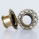 Brass Tunnel - Piercing Tunnel - Ear Tunnel - Brass Plugs - Brass Tunnels - Ear Plugs