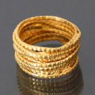 Beautiful And Unique Brass Chain Ring - Tribal Jewelry - Ethnic Jewelry - Unisex Jewelry