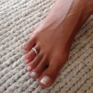 Beautiful Silver Toe Ring - Adjustable Toe Ring - Plain Toe Ring - Foot Accessories - Midi Toe Ring