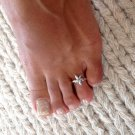 Beautiful Sterling Silver Toe Ring - Adjustable Toe Ring - Plain Toe Ring - Foot Accessories