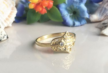 Gold Everyday Jewelry Hamsa Hand Simple Ring