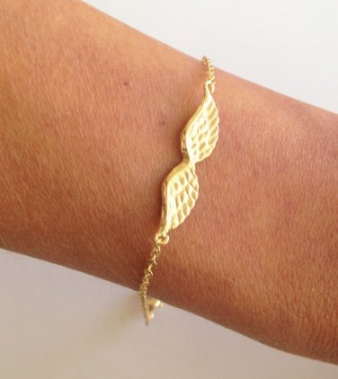 Gold Angel Wings Bracelet - Chain Bracelet