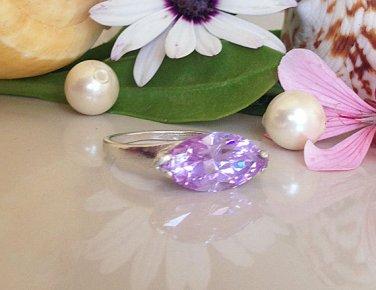 Lavender Amethyst Ring - Silver Ring - June Birthstone - Gemstone ring