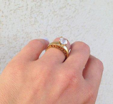 Clear Quartz Ring - April Birthstone - Love Ring - Wedding Jewelry - Gemstone Ring