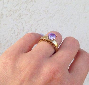 Lavender Amethyst Ring - Love Ring - Wedding Jewelry - Gemstone Ring