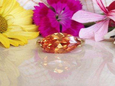 Citrine Ring - November Birthstone - Gold Ring - Yellow ring - Cocktail Ring