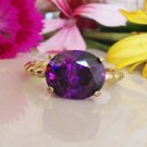 Amethyst Ring - Purple Ring - February Birthstone - Gold Ring