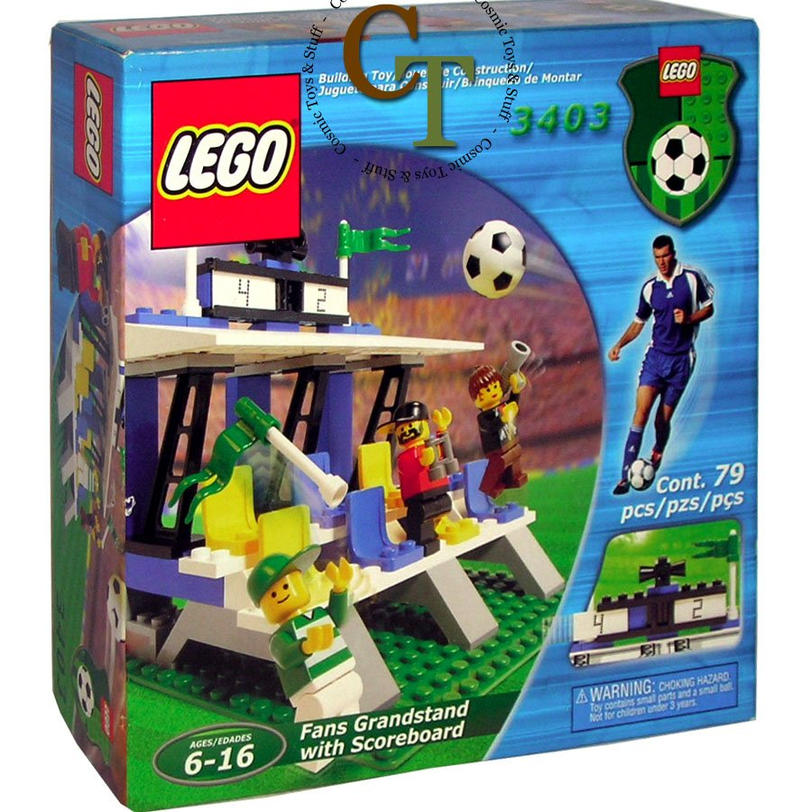 LEGO 3403 Fans' Grandstand with Scoreboard - Sports Soccer