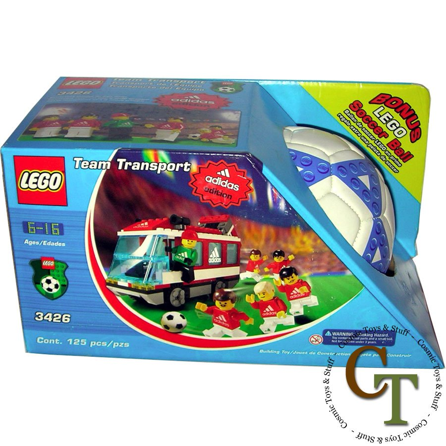 LEGO 3426 Team Transport Adidas Edition (better box) - Sports Soccer