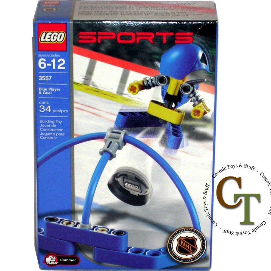 LEGO 3557 Blue Player & Goal - Sports Hockey