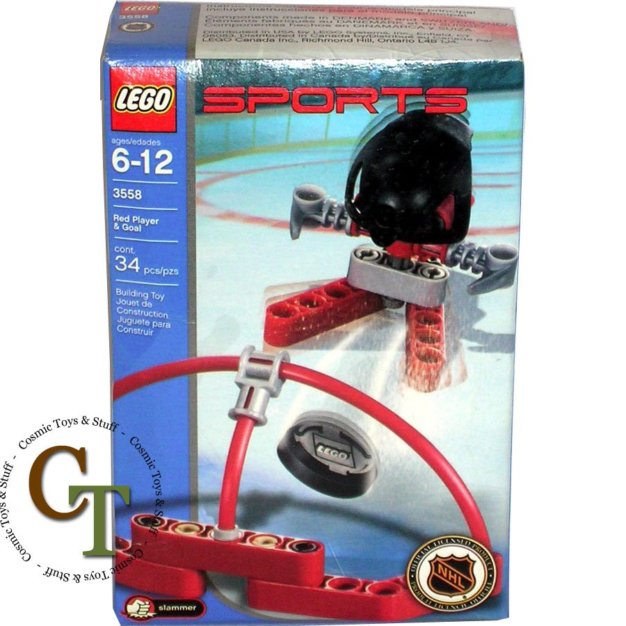 LEGO 3558 Red Player & Goal - Sports Hockey