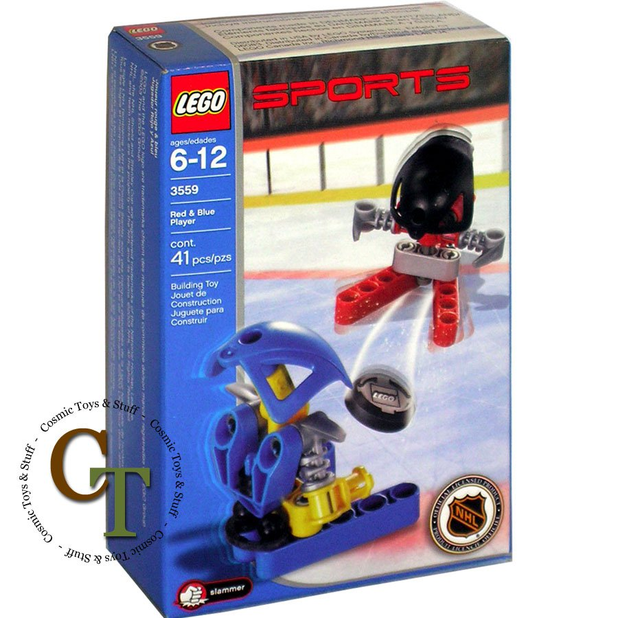 LEGO 3559 Red & Blue Player - Sports Hockey