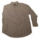 Mens Black Tan CROFT & BARROW Long Sleeve Shirt XL 100% Cotton