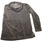 Womens Gray Silver Metallic WHITE STAG Pullover Blouse XL 16/18