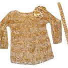 Womens Gold Silver SISTER MAX Sequin Top Owned by DONNA FARGO with COA