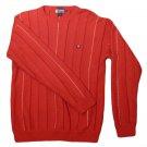 Mens Red Blue White CHAPS RALPH LAUREN Pullover Sweater M Medium 100% Cotton