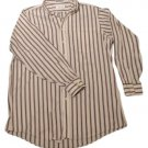 Mens Maroon Blue Off White M L R STUDIO COLLECTION Button Down Shirt XLT 17 1/2