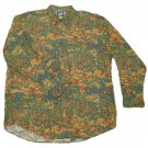 Mens Green Red Brown GAP Button Down Shirt XL