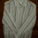 CONCEPTS CLAIBORNE Men's Shirt - Creme Maroon Black & Brown - Size Medium *