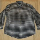 Mens Blue Gray White TOWNCRAFT Button Down Shirt Large
