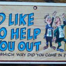 Vintage 1959 Topps WACKY PLAK Trading Post Card #70