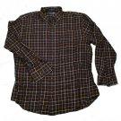 Mens Black Brown Blue White GRANT THOMAS Long Sleeve Shirt Large