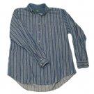 Mens Blue Gray HUNT CLUB Denim Button Down Shirt Large