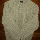 IZOD Men's Shirt - Brown/Tan/Gray - Size XL - EUC