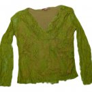 Womens Green GALENO Pullover Blouse Large