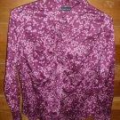 NEW YORK & CO Women's Blouse/Shirt - Purple - Size XL - EUC