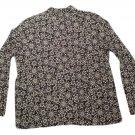 Womens Black White WHITE STAG Pullover Blouse XL 16/18