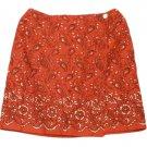 Womens Red Black White CHARTER CLUB Wrap Skirt 8P