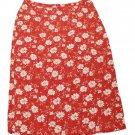 Womens Red White Yellow CHRISTOPHER & BANKS Skirt 16
