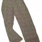 Womens Black Tan PAUL HARRIS DESIGN Casual Pants XS NWT