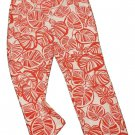 Womens Red White TALBOTS Stretch Pants 8