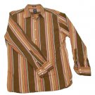 Mens Multi-Color GAP Fitted Long Sleeve Shirt Medium 100% Cotton