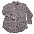 Mens Multi-Color IZOD Long Sleeve Shirt L Large 100% Cotton