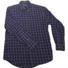 Mens Blue White HUNT CLUB Button Down Shirt Medium