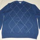 GEOFFREY BEENE Men's Pullover Sweater - Blue - Size XXL - EUC