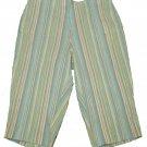 Womens Brown Blue Green KORET Capris Pants 24W