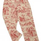 Womens Off White Red WHITE STAG Capris 8 Ladies