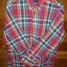 WARREN SCOTT Men's Shirt - Maroon/Gray/Green - Size XL -  EUC