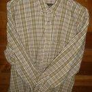 TIMBERLAND Men's Shirt - Brown Tan & Green - Size Large - EUC *